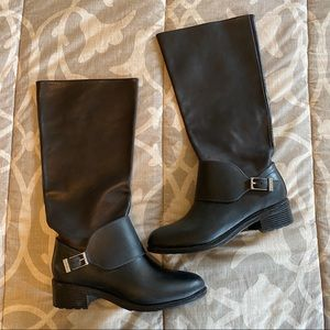 Cole Haan Black Leather Boots with Buckle Size 9B